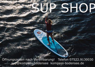 SUP Shop Schild